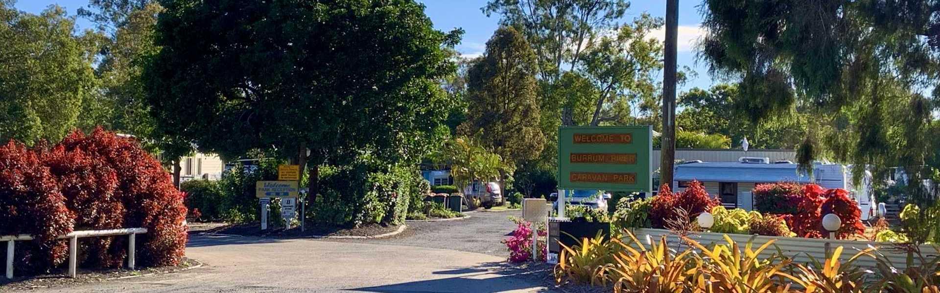 Burrum River Caravan Park Entrance