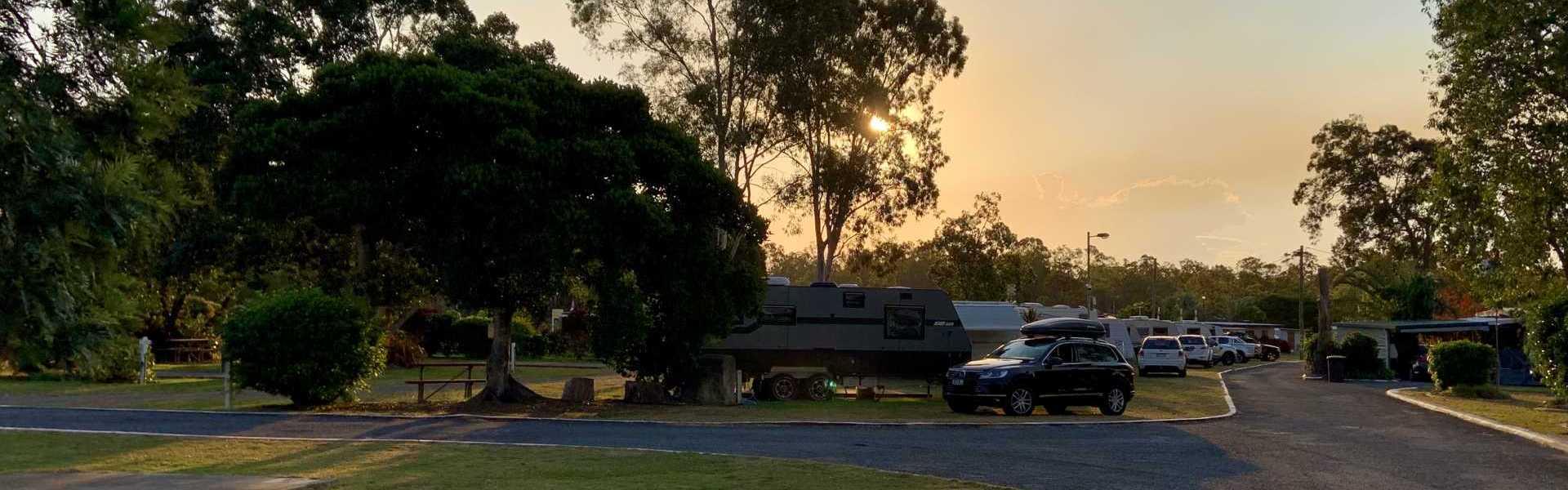 Burrum River Caravan Park Sunset