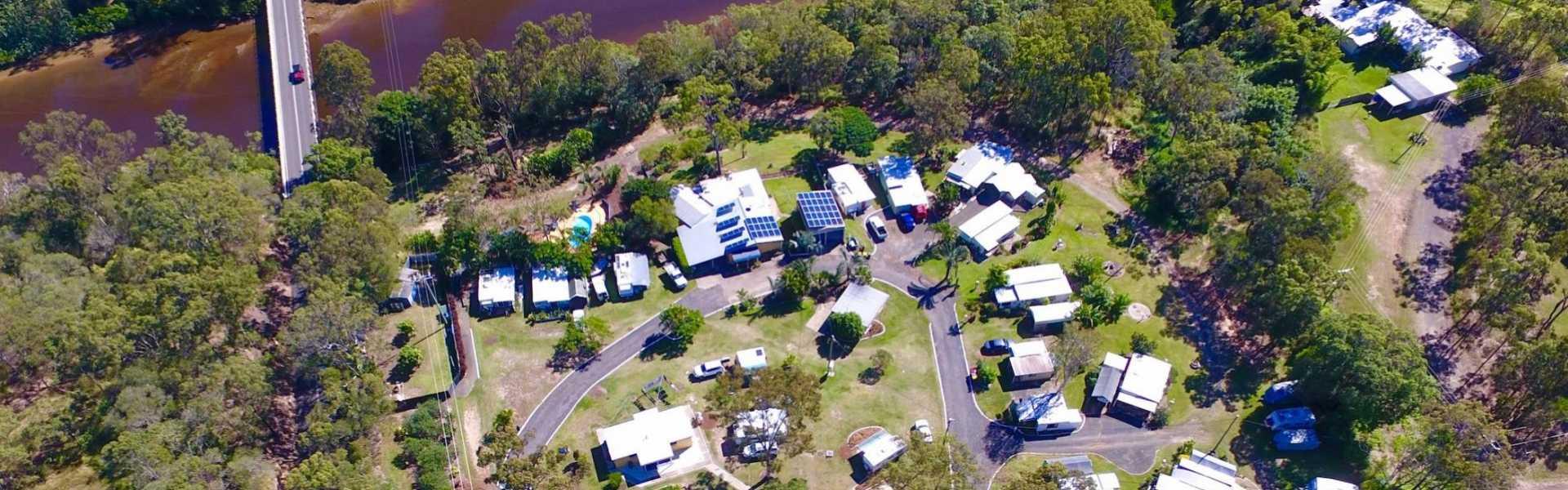 Burrum River Caravan Park, Howard, Kui Parks, Aerial View
