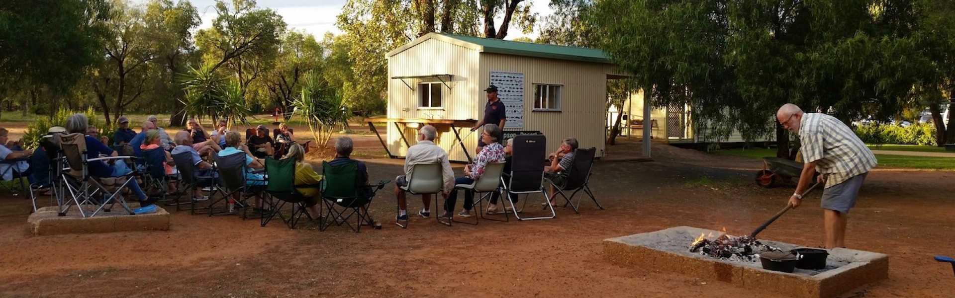 Kui Parks, Charleville Caravan Park, Happy Hour