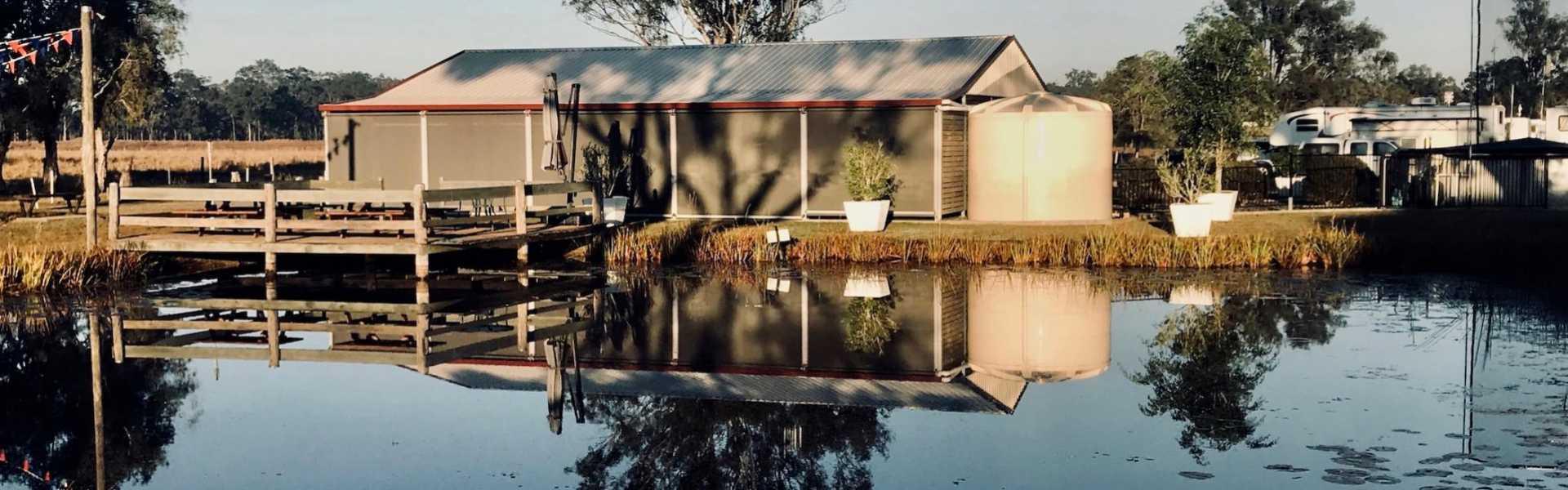 Kui Parks, Cheery Nomad RV Park & Farmstay, Maryborough, Decking