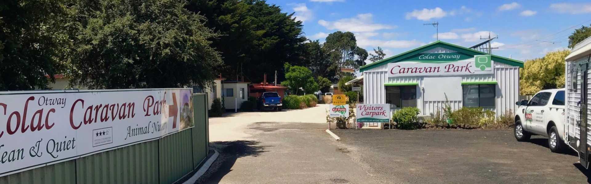 Kui Parks, Colac Otway Caravan & Cabin Park, Entrance