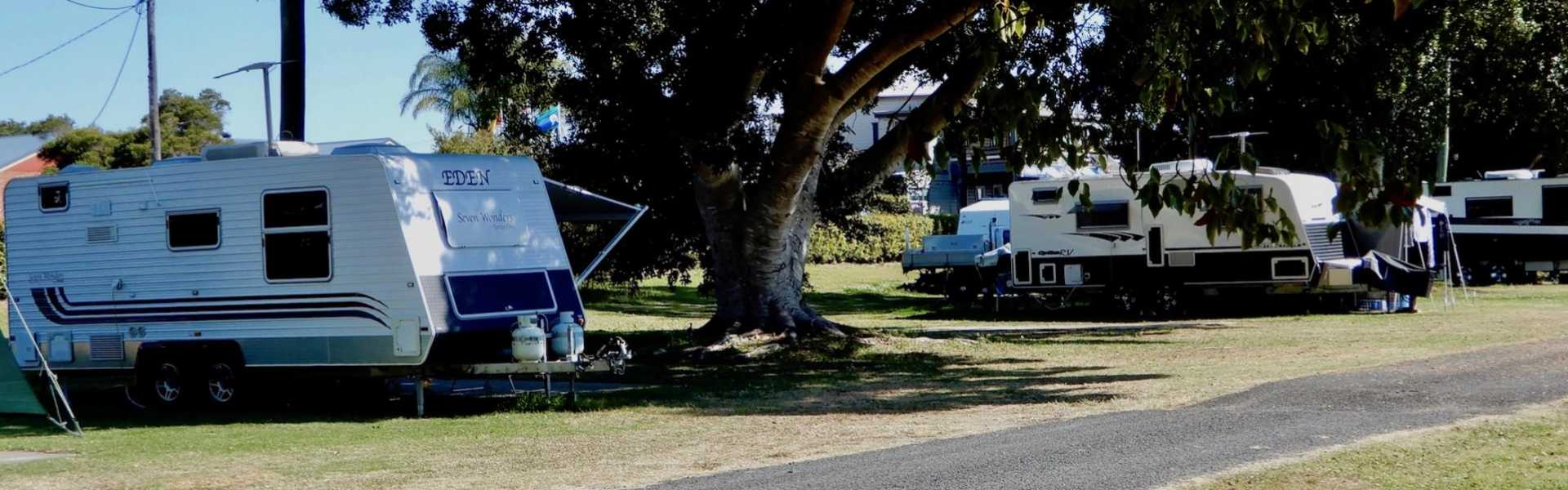 Kui Parks, Coraki Riverside Caravan Park, Caravan Park, Sites