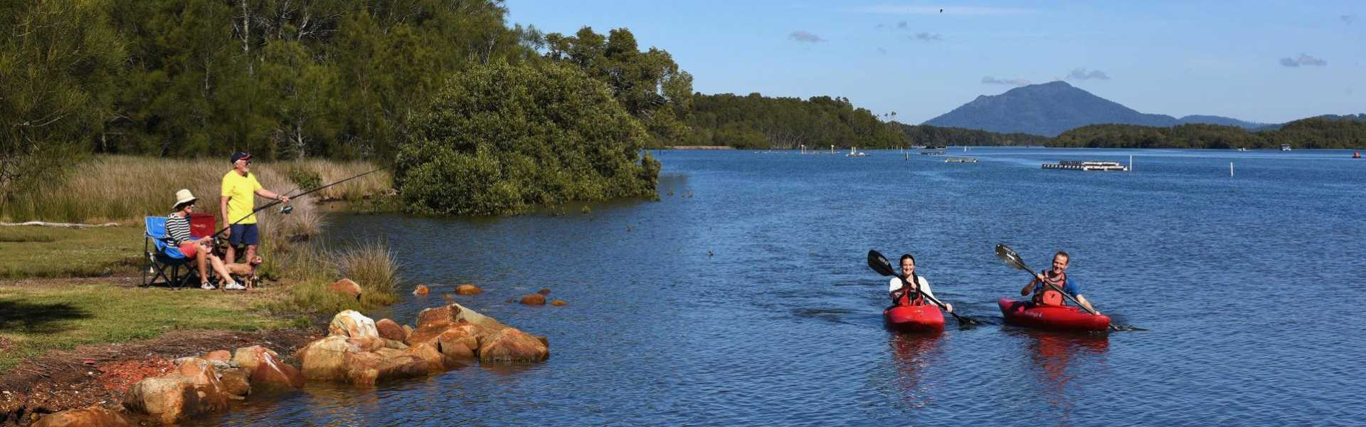Kui Parks, Diamond Waters Caravan Park, Dunbogan, Camden River