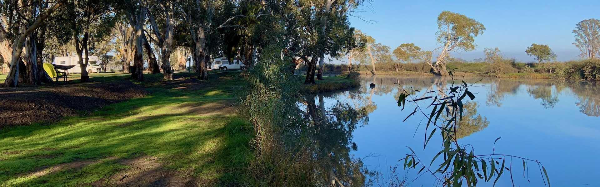 Kui Parks, Kerang Caravan & Tourist Park, Loddon RIver
