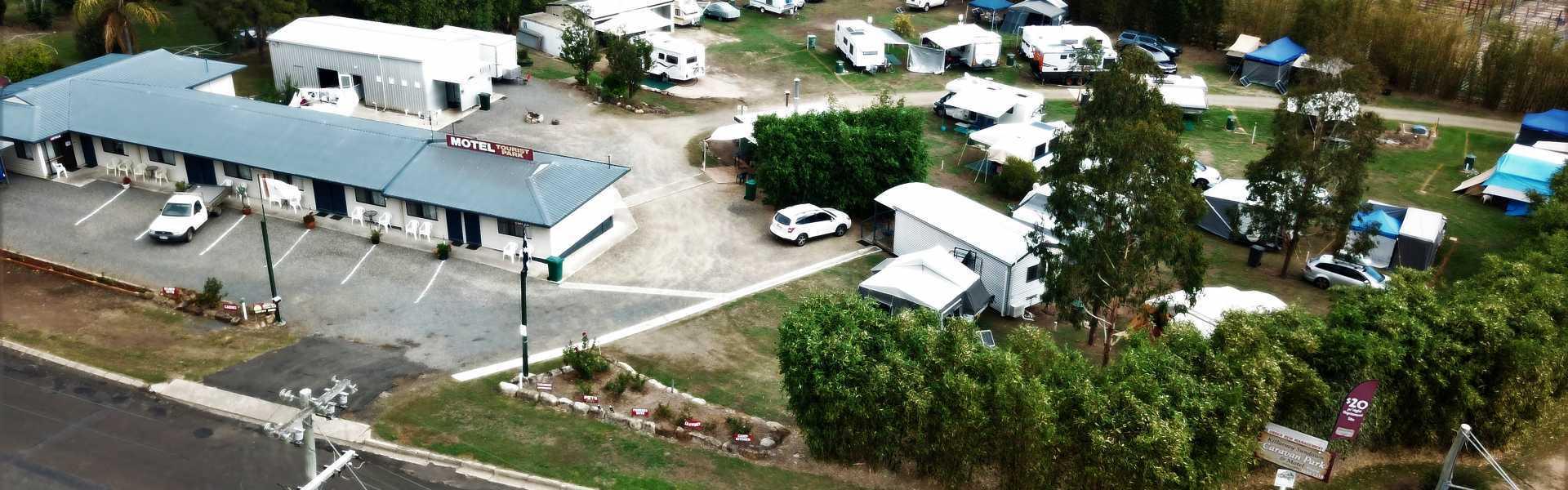 Kui Parks Killarney Sundown Motel & Tourist Park, Aerial Shot
