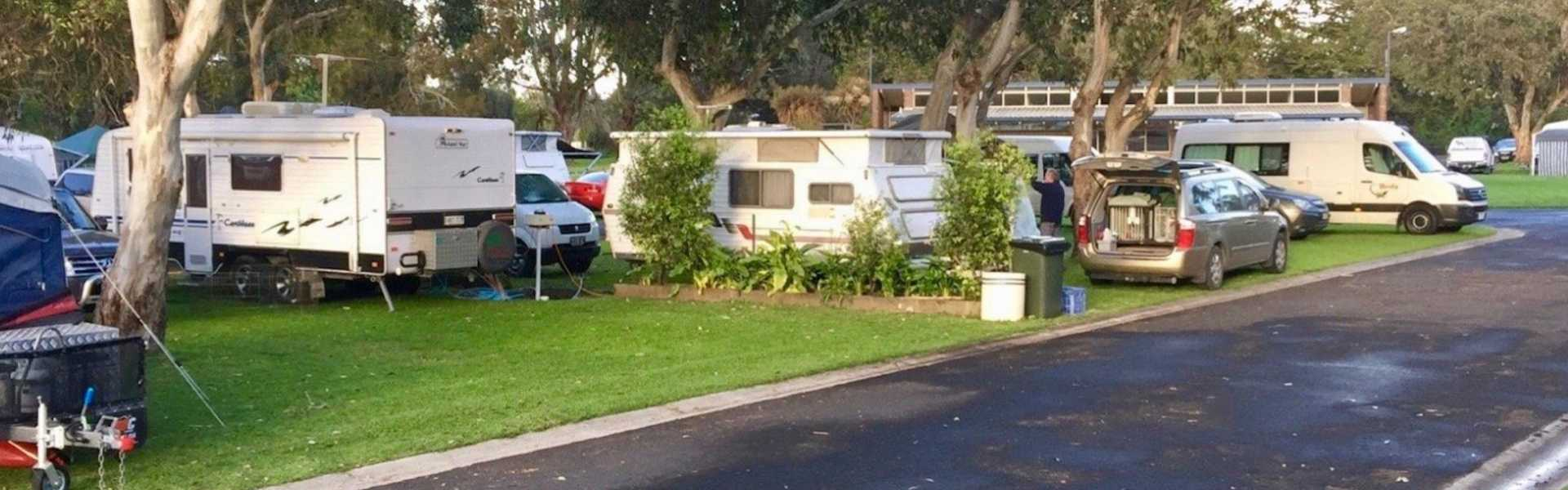 Kui Parks, Millicent Lakeside Caravan Park, Sites