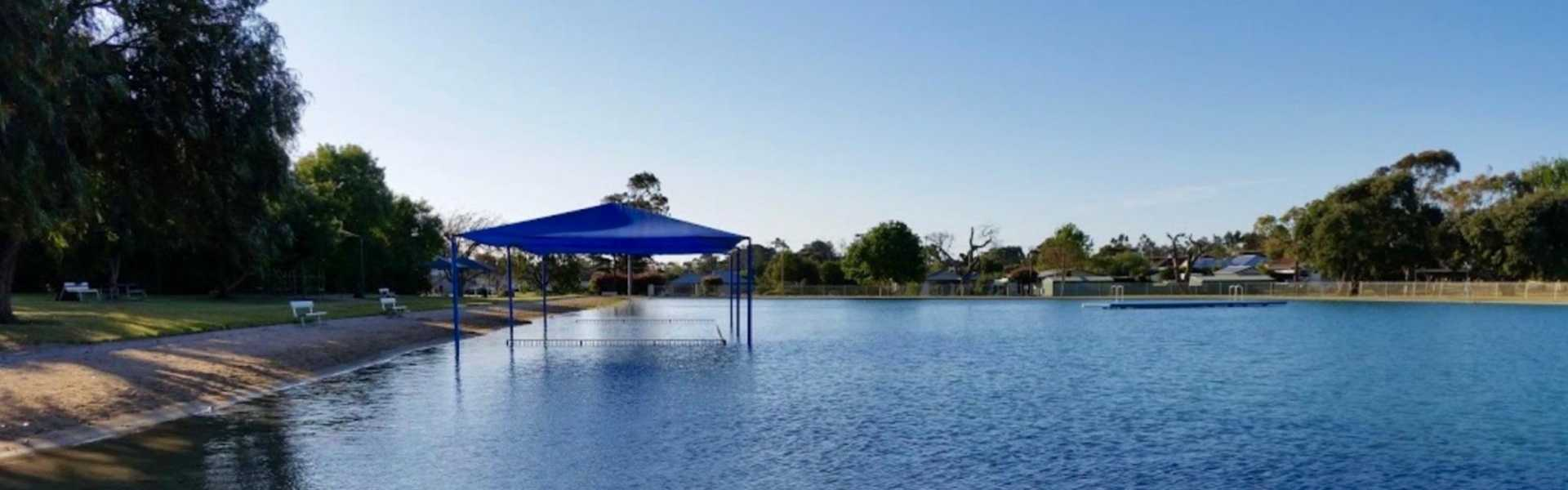 Kui Parks, Millicent Lakeside Caravan Park, Swimming Lake