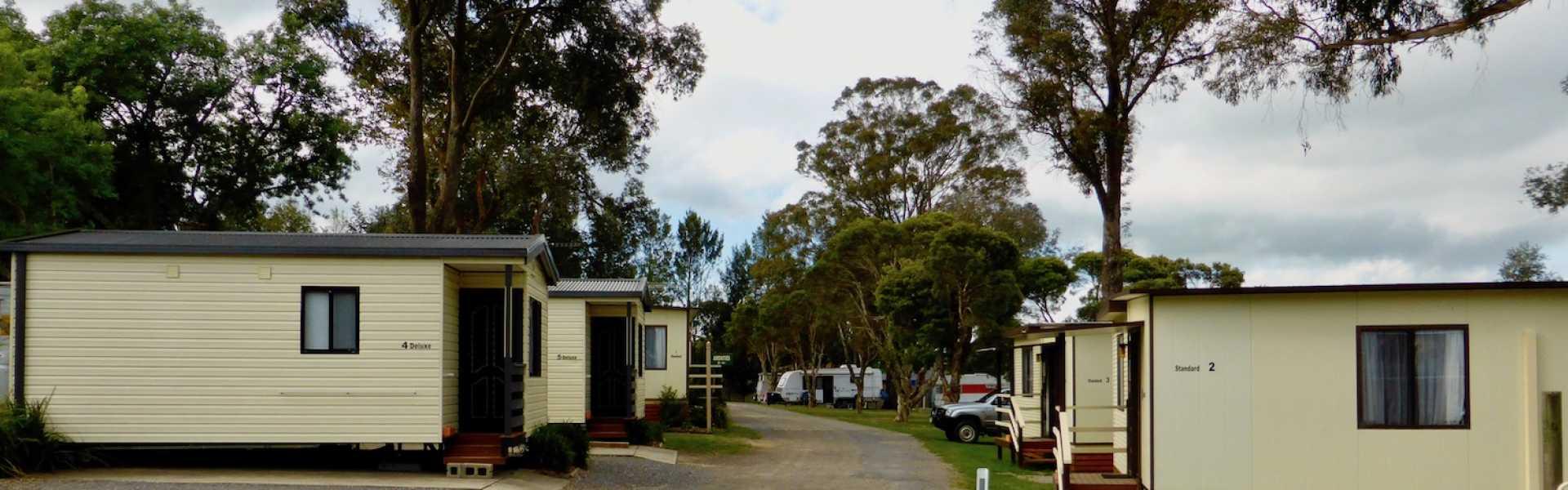 Kui Parks, Moss Vale Village Park, Cabins