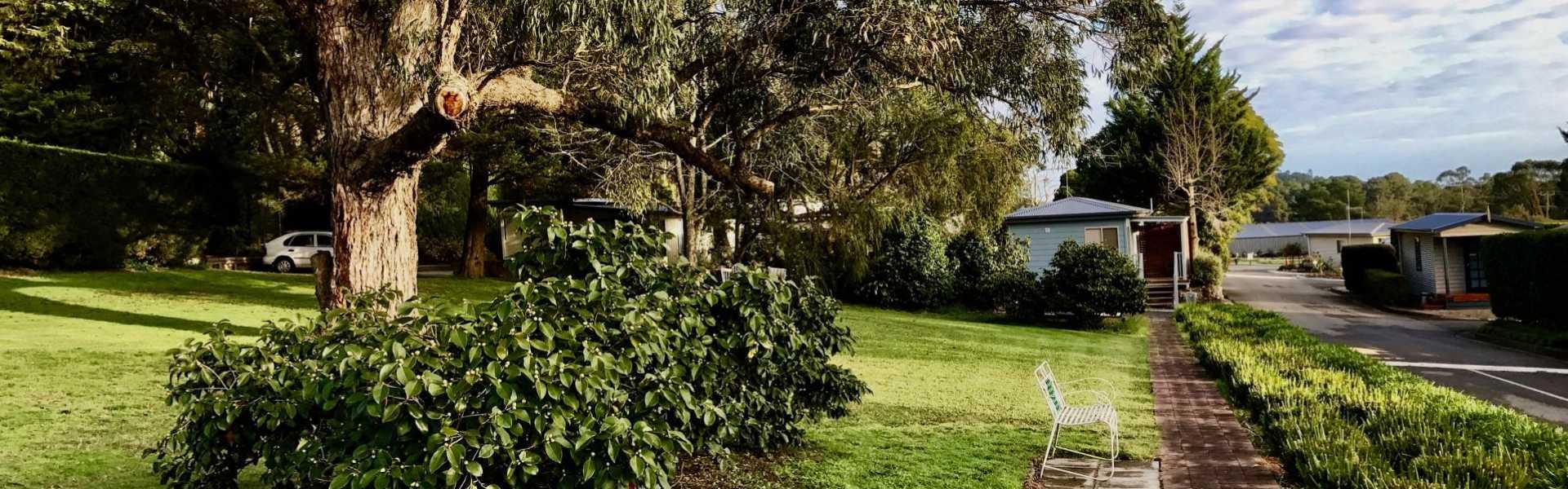 Kui Parks, Lilydale Pine Hill Caravan Park, Gardens