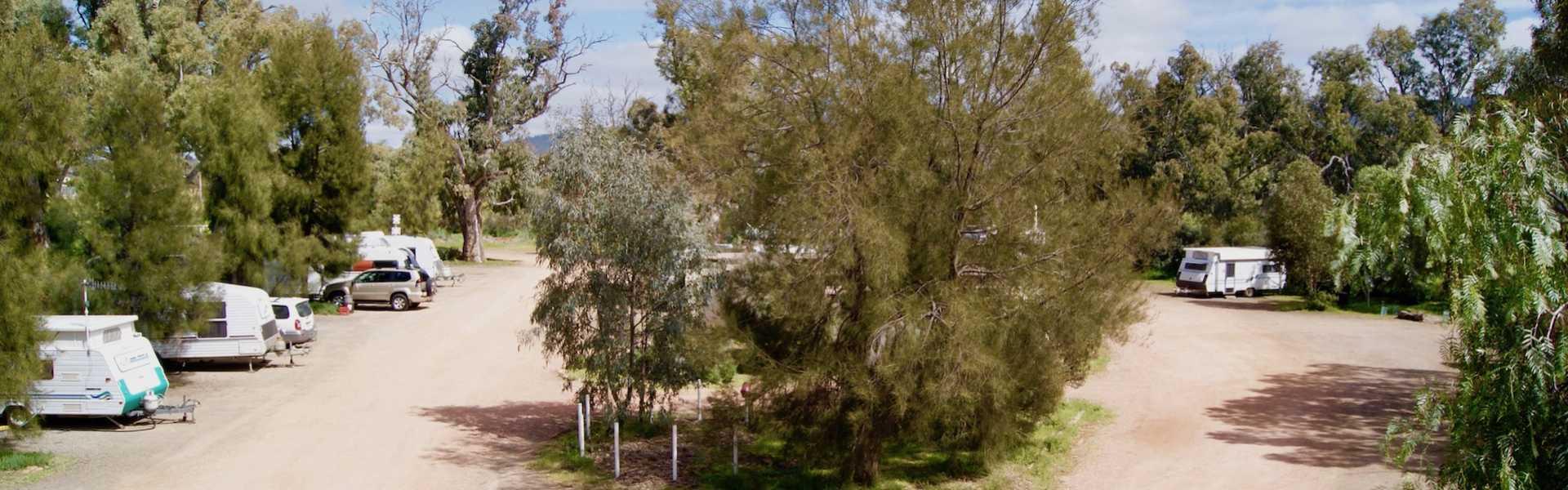 Quorn Caravan Park, Kui Parks, Sites