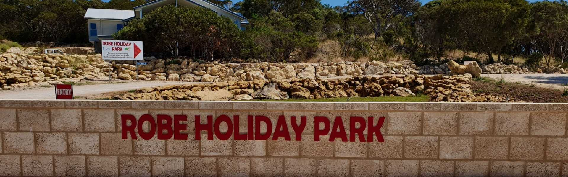Kui Parks, Robe Holiday Park, Entrance