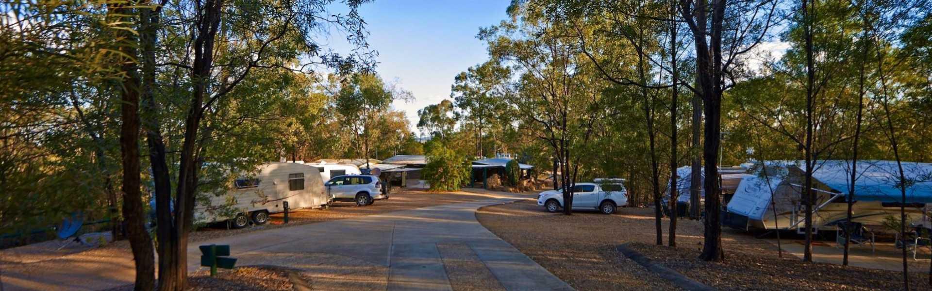 Kui Parks, Sapphire Caravan Park, Gemfields, Sites