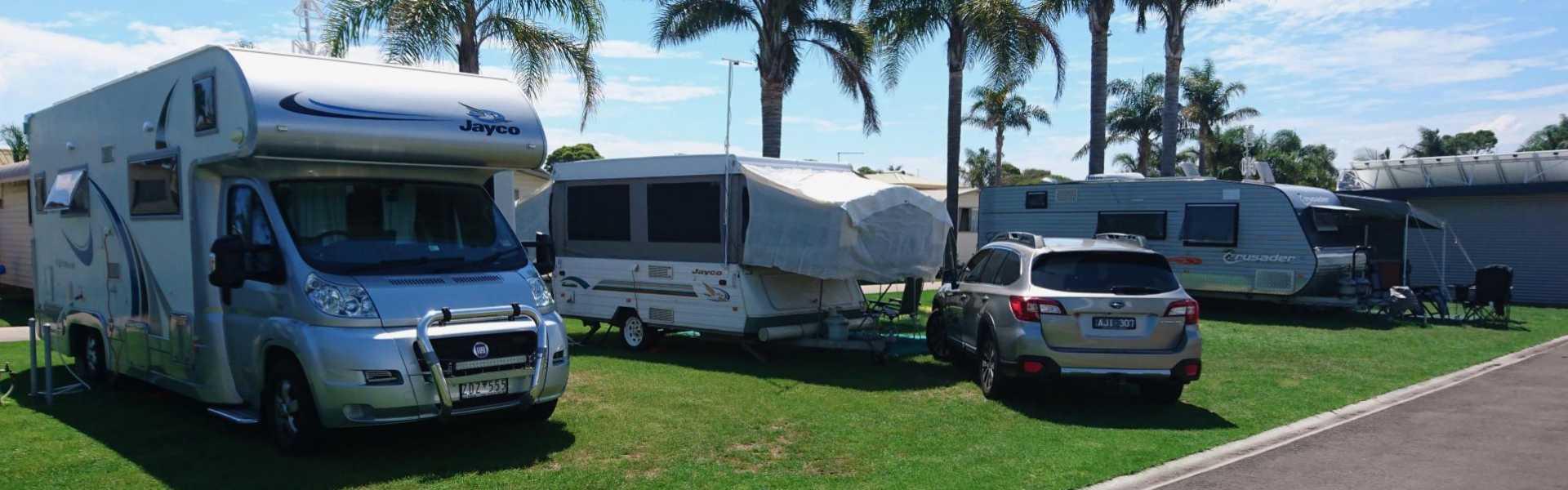 Kui Parks, Lakes Entrance, Silver Sands Tourist Park, Sites