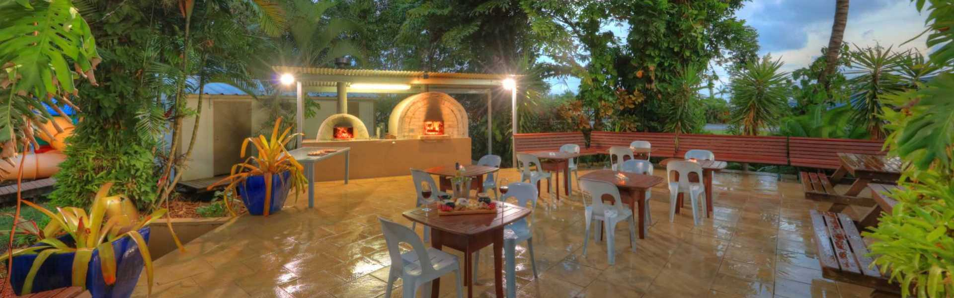 Kui Parks, Tropical Hibiscus Caravan Park, Mission Beach, Pizza Oven