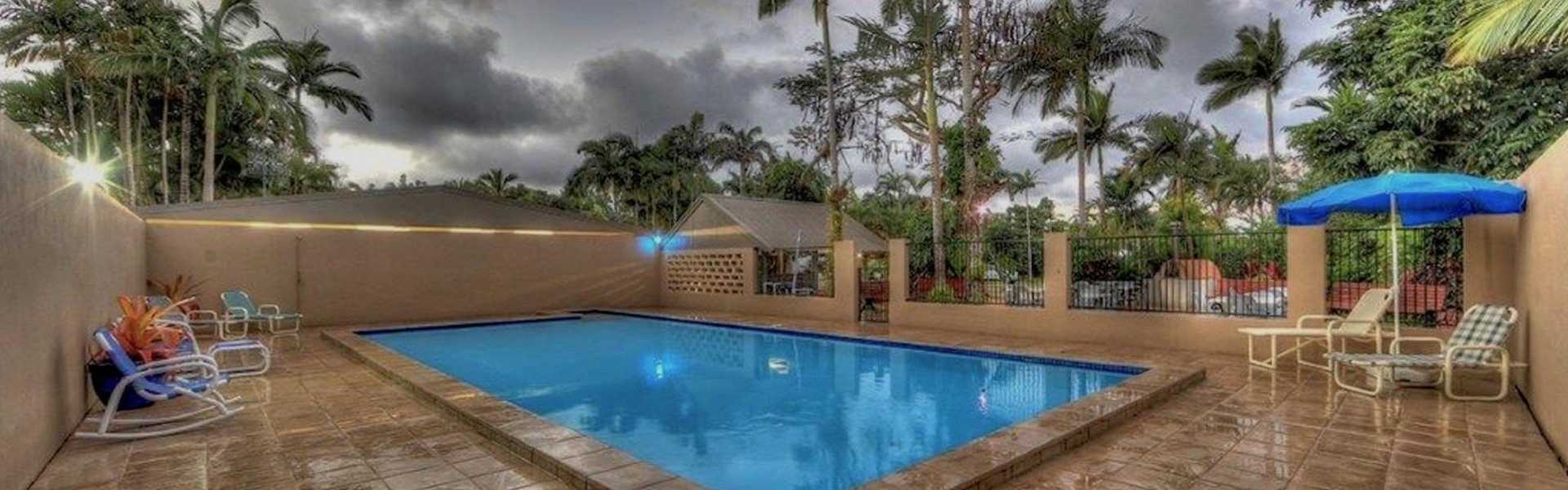 Kui Parks, Tropical Hibiscus Caravan Park, Mission Beach, Pool