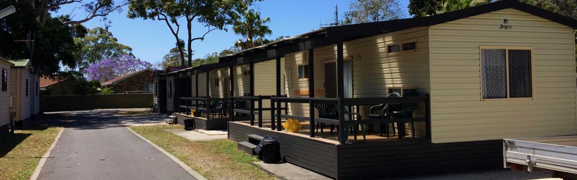 Kui Parks, Twin Dolphins Holiday Park, Tuncurry, Cabins