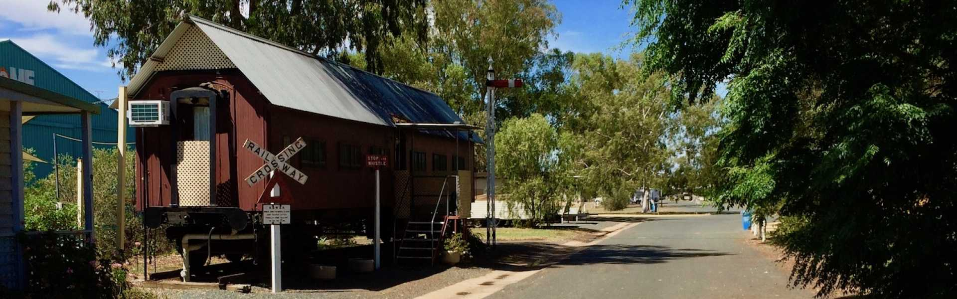 Kui Parks, West Wyalong Caravan Park, Carriage