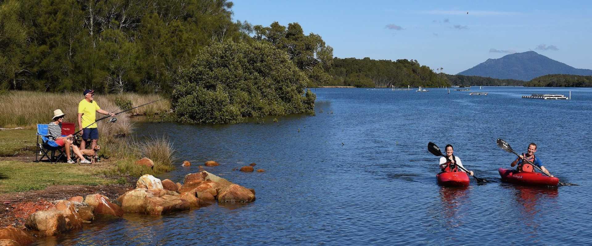 Kui Parks, Diamond Waters caravan Park, Dunbogan NSW