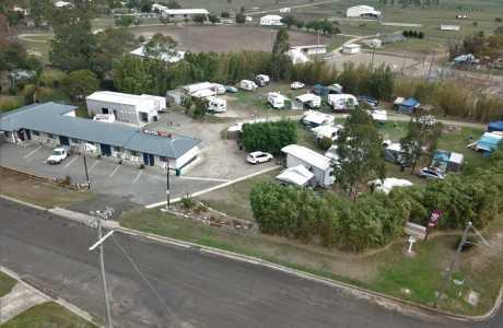 Kui Parks, Killarney Sundown Motel & Tourist Park, Aerial Shot