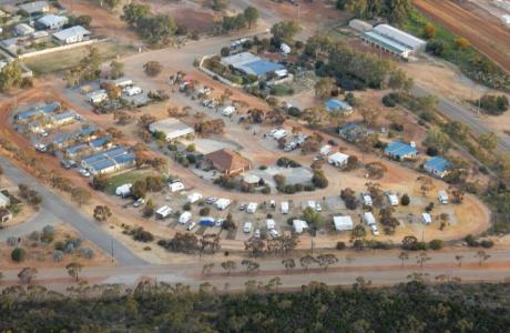 Kui Parks, Wongan Hills Caravan Park, Aerial View