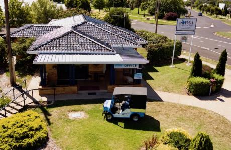 Kui Parks, Inverell Caravan Park, Office
