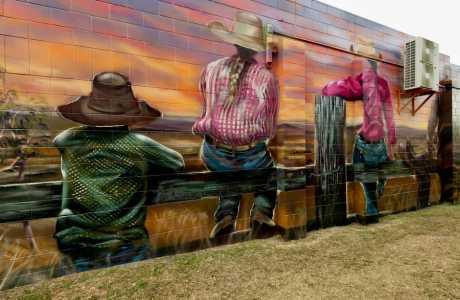 Kui Parks, Monto Caravan Park, Monto Newton Street Art Mural 2