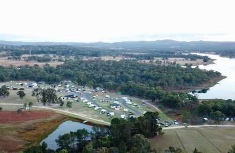 Kui Parks, Sommerville Valley Tourist Park, Stanthorpe, Aerial View