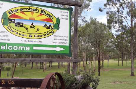 Kui Parks, Barambah Bush Caravan and Camping Park, Murgon, Entrance