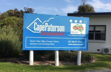Kui Parks, Cape Paterson Caravan Park, Signage