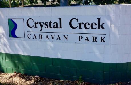 Kui Parks, Crystal Creek Caravan Park, Mutarnee, Signage