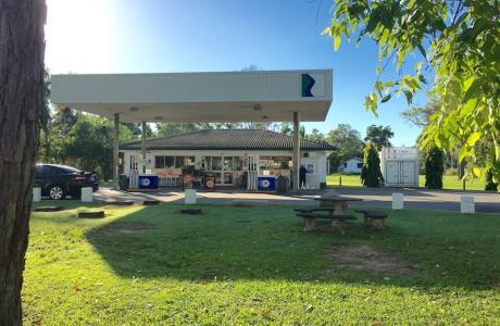 Kui Parks, Crystal Creek Caravan Park, Mutarnee, Petrol Station