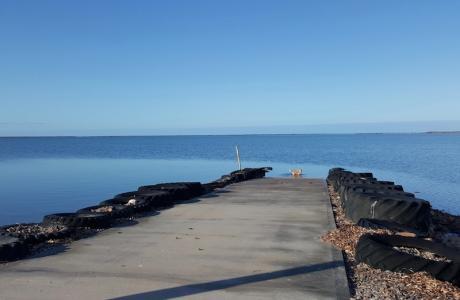 Kui Parks, Harbour View Caravan Park, Jetty