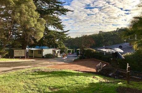 Kui Parks, Lilydale Pine Hill Caravan Park, Entrance