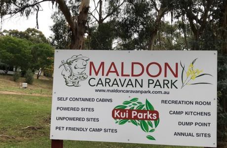 Kui Parks, Maldon Caravan Park, Signage