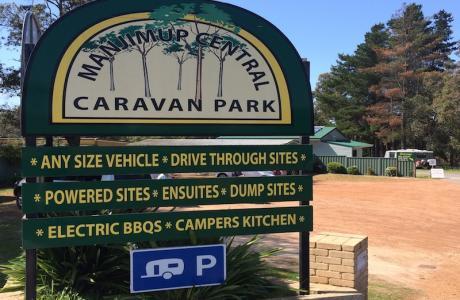 Kui Parks, Manjimup Central Caravan Park, Signage