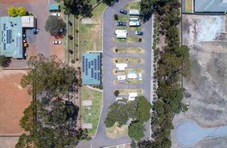 Kui Parks, Manjimup Central Caravan Park, Aerial View