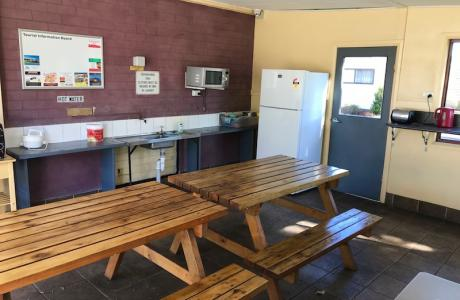 Kui Parks, Mount Gambier Central Caravan Park, Camp Kitchen