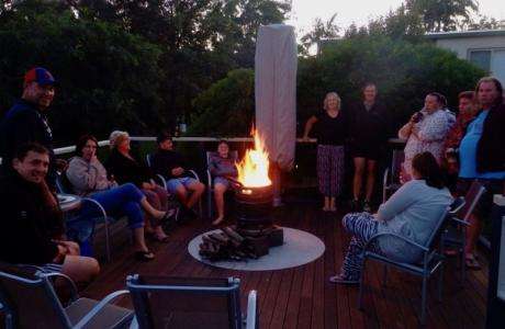 Kui Parks, Ocean View Caravan and Tourist Park, Landsborough, Happy Hour