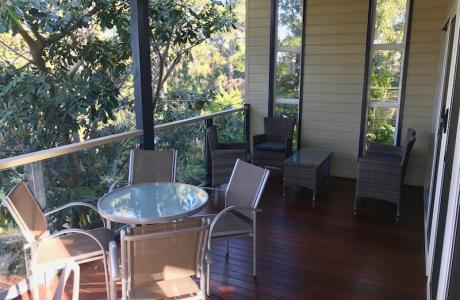 Kui Parks, Ocean View Caravan and Tourist Park, Landsborough, Camp Kitchen Decking