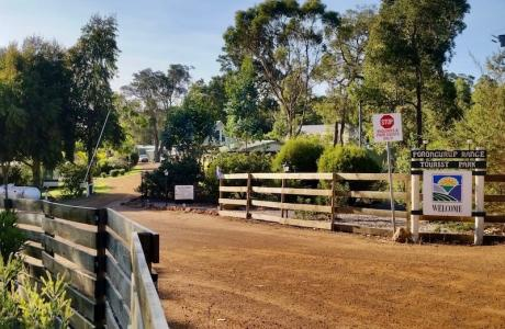 Kui Parks, Porongurup Range Tourist Park, Entrance