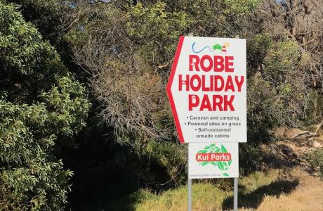 Kui Parks, Robe Holiday Park, Signage
