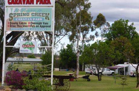 Kui Parks, Spring Creek Caravan Park, Signage