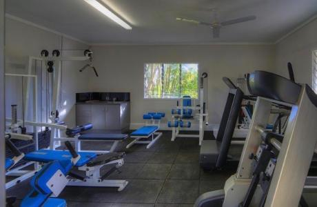 Kui Parks, Tropical Hibiscus Caravan Park, Mission Beach, Gym
