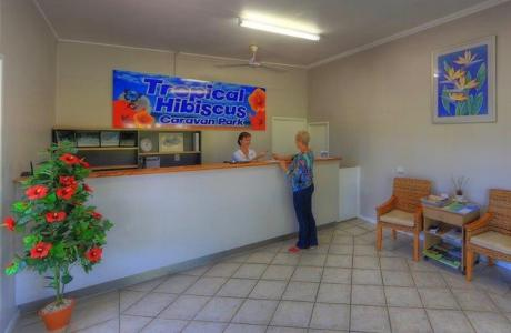 Kui Parks, Tropical Hibiscus Caravan Park, Mission Beach, Reception