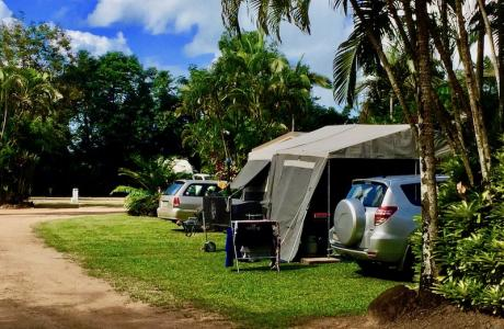 Kui Parks, Tropical Hibiscus Caravan Park, Mission Beach, Sites