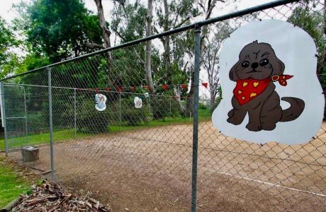 Kui Parks, Wangaratta Caravan Park, Off Leash Area